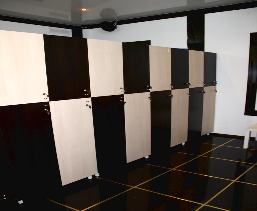 раздевалка со шкафчиками