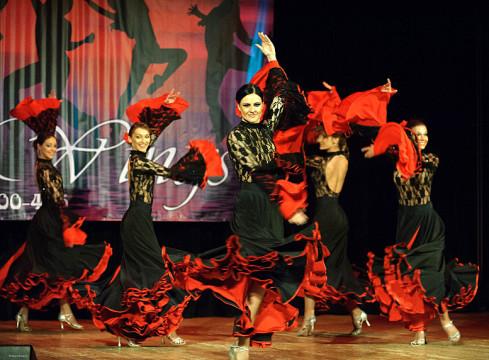 Концерт фламенко в школе танцев wings